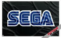 SEGA FLAG (3X5 FT) BANNER VIDEOGAMES ARCADE