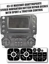 03-12 Maserati Quattroporte Stereo Navigation Sport Black Button Repair Stickers