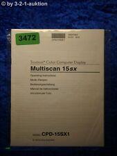 Sony Bedienungsanleitung CPD 15SX1 Multiscan 15sx (#3472)