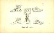 Roman Buskins And Sandals Greek Roman Engraving