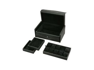 Diplomat Ten Watch Storage Chest with Storage, Carbon Fiber Fabric and Suede