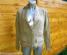 jolie veste sable en lin MC PLANET taille 42 NEUVE ÉTIQUETTE  * haut de gamme *