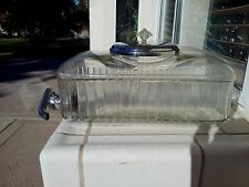 "ANCHOR HOCKING CLEAR WATER DISPENSER 10½"" X 5½"" X 5"""