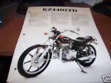 1980 Kawasaki KZ440LTD Motorcycle Brochure