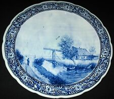 VINTAGE DELFTWARE DUTCH CHARGER WALL PLAQUE POGGENBEEK