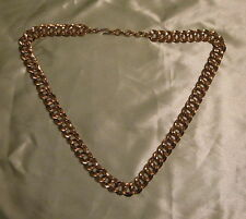 MONET Double Link Chain 24 -26 inch Gold Tone Necklace Vintage