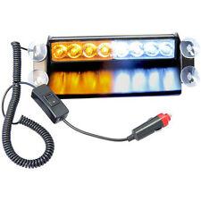HQRP Vehicle Emergency White/Amber 8 LED Flashing Dash Strobe Tow/Plow Light