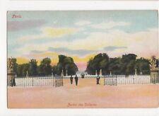 Paris Jardin des Tuilleries Vintage Postcard France 059a