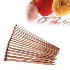 36Pcs 2mm-10mm Single Pointed Carbonized Bamboo Knitting Needles Crochet Set