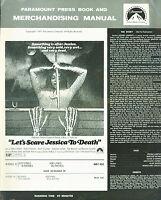 Let's Scare Jessica to Death 1971 Zohra Lampert Barton Heyman Horror Pressbook