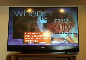 """Mitsubishi WD-65737 65"""" 1080p Rear-Projection DLP HDTV Nice Picture Works Great!"""