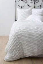 New Anthropologie Ebba Jersey Duvet Cover Twin Size White
