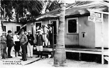 Old Photo. Long Key, Florida.  Fishing Camp & Post Office