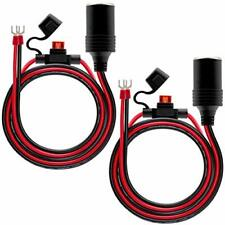 New listing 2Pack Female Cigarette Lighter 1.6Ft Outlet Ring Terminal Plug Power Free Ship