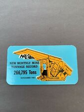 New listing Nacco Production Coal Mining Stickers Hard Hat Rare Old