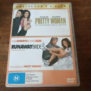 Pretty Woman + Runaway Bride DVD R4 Like New! FREE POST