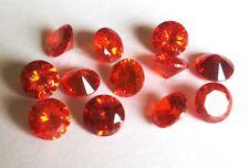 CZ Round Orange 2mm 4mm 6mm 8mm 10mm Loose AAA Cubic Zirconia Gemstone