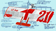 Model Airplane Plans 1/2A Control Combat Lil Snip Full Size Printed Plans