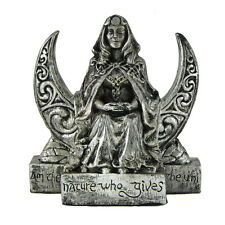 Small Moon Goddess Statue - Silver Finish - Dryad Designs - Wicca Wiccan Pagan