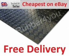 ROUND STUDDED Cab Garage Shed Workshop Rubber Flooring Matting 1m wide x 3mm thk