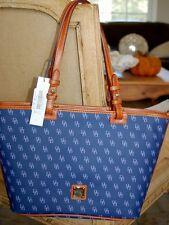 DOONEY & BOURKE NG352 GRETTA LEISURE SHOPPER BLUE LAVENDER TOTE BAG NEW NWT $198