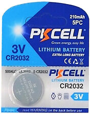 200 x CR2032 3V Lithium Batterie auf 40 Blistercard a 5 Stück PKCELL