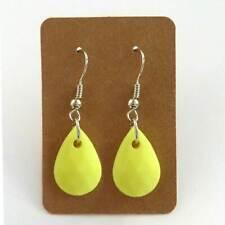 boucles d'oreilles pendantes gouttes jaune vif fluo clair années 80 légères