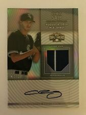 Chris Sale 2012 Topps Triple Threads Patch Autograph #47/99 Auto CY YOUNG?