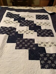 Navy And White Lap Quilt