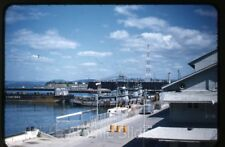 1950s red border Kodachrome Photo slide US navy Guantanamo Bay base Cuba #7 ship