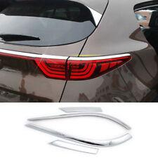 For Kia Sportage 2017 2018 Chrome Rear Tail Light Lamp Cover Trim Eyelid Eyebrow
