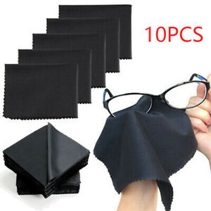 10Pcs Microfiber Premium Cleaning Cloth For Eye Glasses Phone Screen Camera Lens