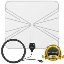 Fosmon [35 Mile] Ultra Thin Flat Design Indoor HDTV HD TV Transparent Antenna