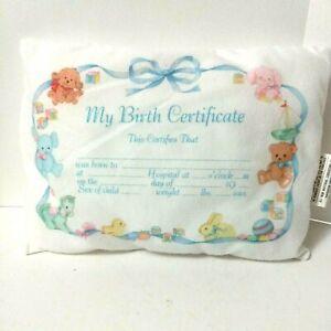 Baby Gerber Birth Certificate Keepsake Pillow