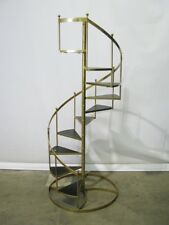 Rare 1960's Mid Century Hollywood Regency Gilt Metal 6' Circular Staircase