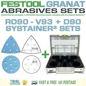 Festool GRANAT ROTEX RO90DX Sandpaper Systainer³ Sets - D90 V93 93V RO 90 mm