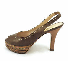 Prada Pumps 36  Plateau Sandale peeptoes braun top