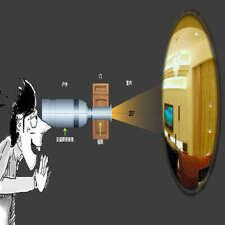 Tactical Door Peephole Reverse Viewer Cat's Eye Door Eye Door Viewer Reversal