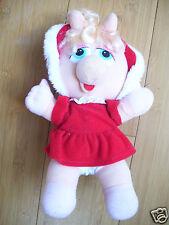 "Vtg Plush Jim Henson's Miss Piggy 10"" Muppet Babies Christmas 1987 Red Dress"