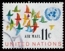 """UNITED NATIONS C16 - Birds in Flight """"Airmail"""" Issue (pa14237)"""