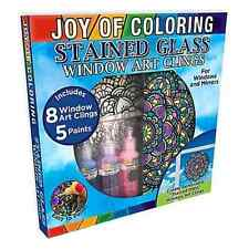 Zorbitz Joy of Coloring Stained Glass Window Art Kit
