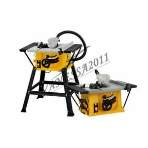 Table Saws With Stands 8'' Cutting Electric Machine 1.5KW Wood DIY+1PC Miter Saw