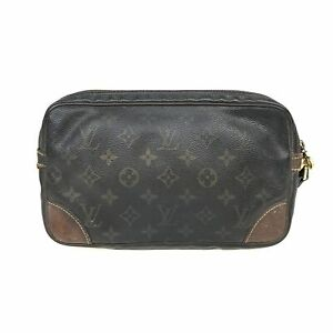 100% Authentic Louis Vuitton Monogram Marly Dragonne GM M51825 [Used] {08-248B}