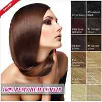 7PCS 70G REMY REAL 100% Real Human Hair Full Head Clip in Remy Hair Extensions