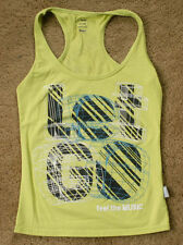 ZUMBA Let Go green tank tank cami top size S