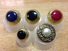 Gold plated dress buttons coat tunic jacket blazer regal royal John Lewis x5