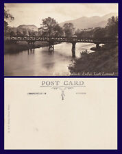 UK SCOTLAND ARGYLL & BUTE RIVER FALLOCH, ARDLUI, REAL PHOTO POSTCARD CIRCA 1915