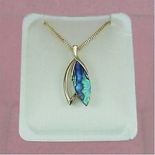 Paua Jewelry - Gold Plated Drop Necklace (PGP551)