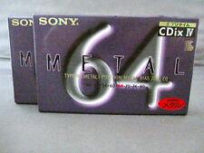 "SONY ""CDix Ⅳ"" Metal Cassette Tape C64 Metal Bias Ultra Slim MADE IN JAPAN"