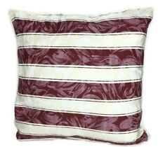"""RED & CREAM CUSHION COVERS 16"""" X 16"""" INCH 40 X 40 CM QUALITY FABRIC / ZIPS"""